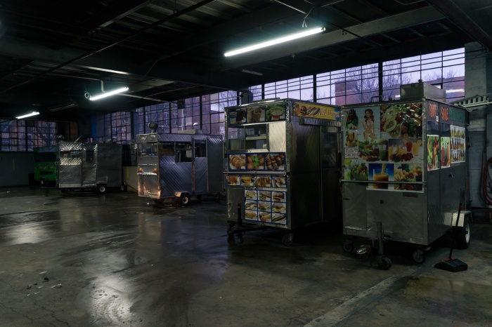 Picture of Commissary Garage at Fauzia's Food Cart in Bronx New York by Mary Catherine Messner mcmessner