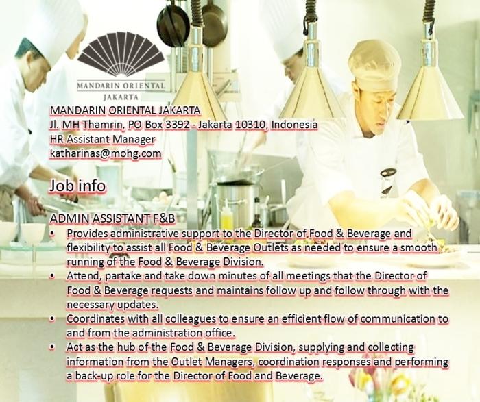 Mandarin Oriental Jakarta Job info FB