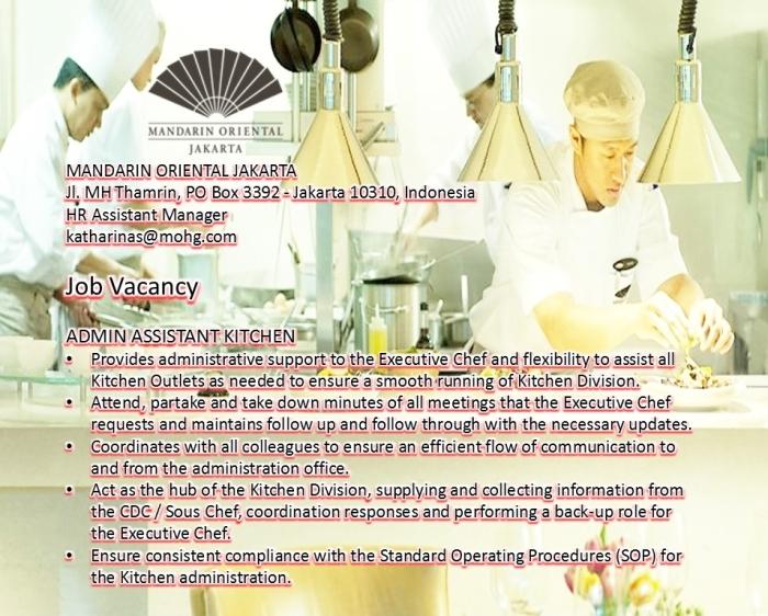 Mandarin Oriental Jakarta Job info Kitchen