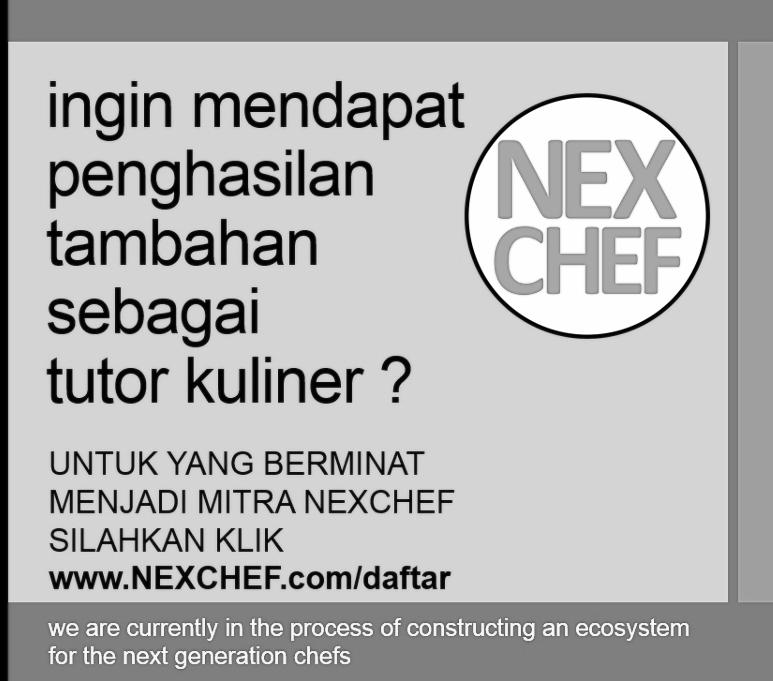 Lowongan Karier Guru dan Pengajar dan Tutor Kuliner Freelance Chef