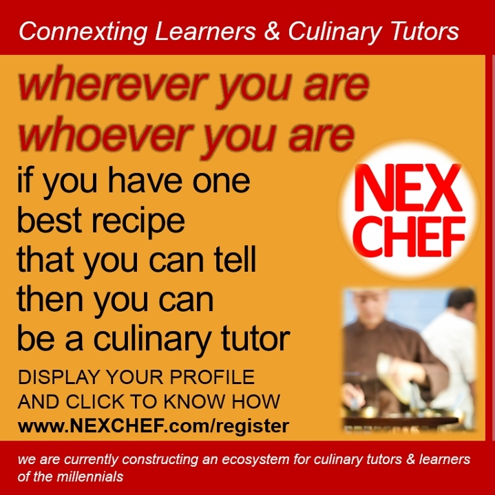 search find vacancy culinary tutors chefs career info consultant gastronomy nexchef freelance