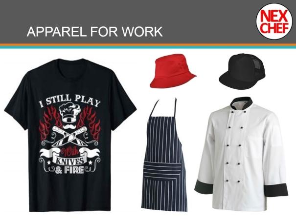 NeXChef Apparel Culinary Apron Cook Uniform Hat